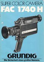 GRUNDIG - FAC 1740 H - Gebrauchsanweisung für Video Kamera - B6636