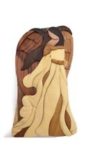 Carver Dan's Wooden Angel Puzzle Trinket Box. New In Box. Secret Hiding Place!