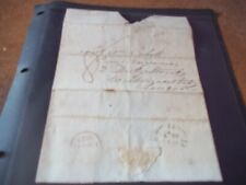 More details for 2 x 1827 pre stamp covers addressed 1 x yorkshire 1 x london free post
