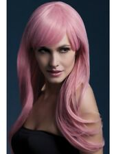 Pastel Pink Fever Sienna Wig 26in/66cm Adult Womens Smiffys Fancy Dress Costume