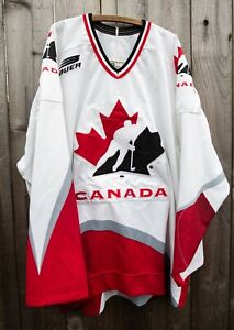 Stitched Fightstrap VTG Team Canada Olympic Hockey Jersey Adult 54 Bauer Prowear