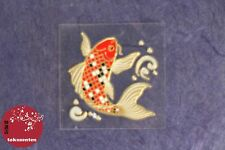 AUTOCOLLANT STICKER MADE IN JAPAN LACQUER ALUMINIUM MOBILE MAC CARP KOI KAWAII