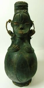 """Keramikfigur,Afrika, 2 weibliche Figuren, Ethnographica, """"Dojon"""""""