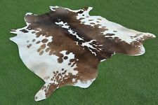 Real Cow hide Hair on Cowhide Skin Area Rug Leather Carpet 2793 Large 6 x 6 Ft
