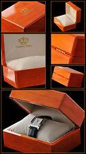 10 x cocción de lujo de madera relojes box con logotipo 160x120x80mm precio especial