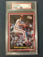 1984 Donruss Action All-Stars #24 STEVE CARLTON ~HOF~ Phillies PSA 7 Near Mint