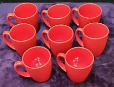Corelle Coordinates Red Stoneware 12 oz Coffee Mug (Set of 8)