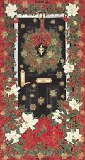 "1 Fabric Panel Timeless Treasures Christmas Door Fabric Panel - 23"" x 43"""