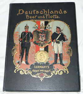 Deutschlands Heer und Flotte (Germany's Army and Navy) (1900, HC) lithographs