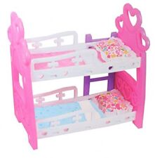 GIRLS BABY DOLL BUNK BED SLEEP TIME DOLL PRETEND PLAY BED FOR DOLL