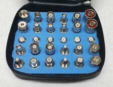 30PCS WiFi & Standard Universal RF Coax Adapter Kit N TNC SMA BNC UHF,Mini-UHF