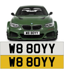 WAIT STOP BOY W8 FAST SPEED RUDE CHEEKY NAUGHTY BMW AUDI PRIVATE NUMBER PLATE