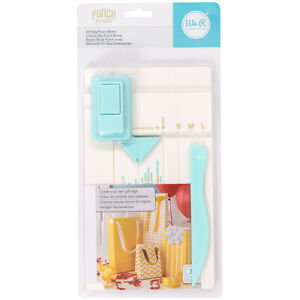 We R Memory Keepers Gift Bag Punch Board Use Paper Card Fold Tabs Ribbon Holes