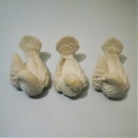 Alabaster Doves Classic Figures Set of 3 By Sculptor A. Santini Made in Italy