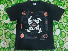 VINTAGE RARE COLOR ORANGE RED HOT CHILI PEPPERS ROCK T SHIRT M NIRVANA PEARL JAM