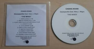 CHAKA KHAN FT. MARY J BLIGE Disrespectful: The Mixes UK 10-track promo only CD