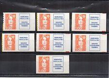 FRANCE Marianne 1 F orange provenant de carnet + Vignette N° Yvert 3009a neuf XX