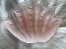 Sea Shell replacement lamp globe for 1930's model art deco frosted pink glass