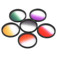 52mm Graduated Color 6pcs Filter Kit Set For Canon Nikon Camera 52MM Lens