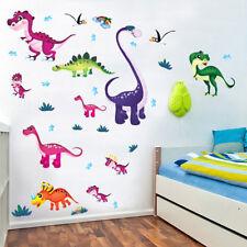 Colorful Dinosaurs Wall Sticker Art Vinyl Decal Mural Kids Nursery Bedroom