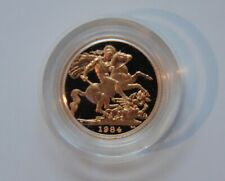 1984 British Sovereign Gold - Proof Coin with Case and COA