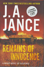 Remains of Innocence by J. A. Jance 1st Ed  **SIGNED**