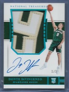 2018-19 National Treasures Donte DiVincenzo Rookie Patch Auto RPA BLUE FOTL 1/3!