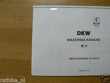 D0008 DKW---ERSATZTEILE CATALOG 81/2---RT250/2-MODEL 1954 LAST ONE IN STOCK