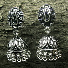 Ethnic Indian Jhumka Dangle Earrings 925 Sterling Silver Mothers day