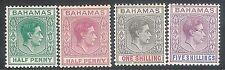 More details for bahamas 1938 part set multi-script mint sg149/149e/155/156b (4)