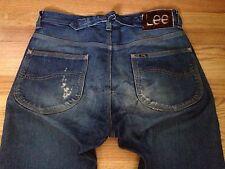 Vintage LEE 1st Edition Redline Selvedge Buckle Back Indigo Denim Jean! Repro.