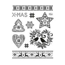 Viva Decor A5 Clear Silicone Stamps Set - Christmas Motives II #146