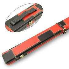 1 Piece Wide RED and BLACK PATCH Luxury Round Corner Snooker Cue Case For 2 cues