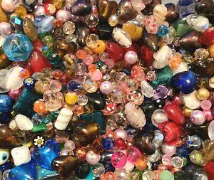Multi coloured Glass Bead Packs 150g - Large size multi mix