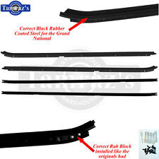 84-87 Grand National GN Correct Style Window Felt Wiskers Dew Sweeps BLACK 4pc