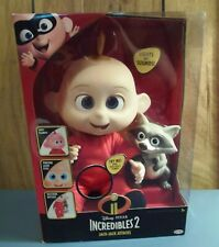 Incredibles 2- Jack Jack Attacks-Baby Doll w/ sound and effects-W/ Raccoon- New