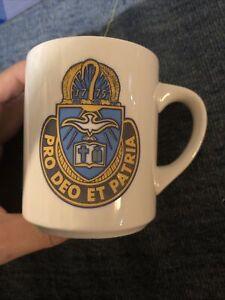 Rare Vintage US Army Chaplain Corps Regiment Coffee Mug