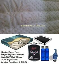 California King Boyd Comfort Supreme Waterbed Mattress w/ Bamboo Zipper Cover
