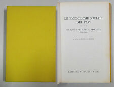 Giordani LE ENCICLICHE SOCIALI DEI PAPI vol II da Giovanni XXIII a Paolo VI 1969