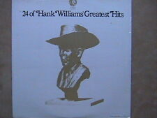 "HANK WILLIAMS ""24 OF HANK WILLIAMS GREATEST HITS"" LP ORIGINAL FACTORY SEALED"