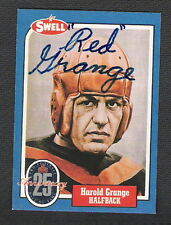 Autographed Harold Red Grange (D.1991) 1988 Swell Card #42 Chicago Bears