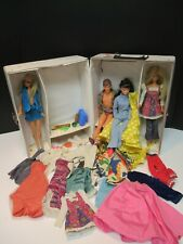 VINTAGE LOT OF 1960S BARBIE DOLLS, CLOTHING,  AND ACCESSORIES WITH DOLL TRUNK !!