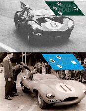 Calcas Jaguar D Type Le Mans 1958 8 11 1:32 1:43 1:24 1:18 decals