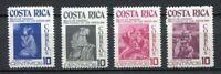 35387) Costa Rica 1974 MNH Paintings 4v Scott # RA61/64