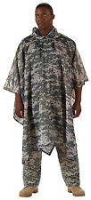 Military Style Rain Poncho With Hood ACU Digital Camo Camouflage Rothco 4658