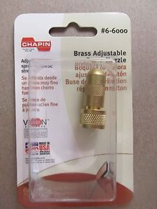 Chapin Brass Nozzle for Sprayers # 6-6000  NEW in box