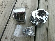 Chrome Switch Housings Set Fits all Harley Davidson Models 1982 to 1995