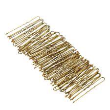 300Pcs Golden Bobby Pins Thin U Shape Hairpins Women Hair Clips E4T7