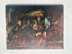 tableau acrylique sur toile de Pierre CHA-LOU 1942-2003 art brut surréaliste