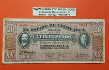 MEXICO 20 PESOS 1914 Estado de CHIHUAHUA - REVOLUCION Pick S.537 billete MBC VF